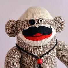 Mustache Sock Monkey