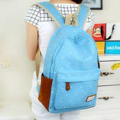 Bolsos moda 2015 diseñadores precioso lienzo bolso de escuela del estudiante Vintage Style Casual estilo Preppy mochila escolar