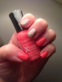 NOTD: Coral Reef + Bling It On