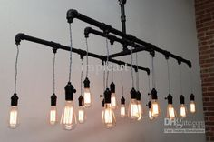 Industrial pipe pendant edison chandelier Suspension Designer light Metal Lamp Hot Sell