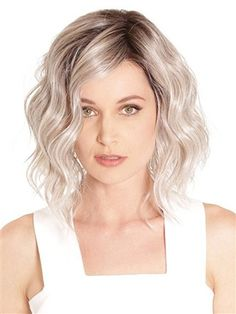 "Vienna Roast Wig by BelleTress :  Different from the typical bob or the ""lob"" styles, Vienna Roast captures a new trendy style called ""wob"" or wavy bob. This look is sophisticated, playful and gives a more youthful, carefree look. Flowing with both bounce and body, Vienna Roast's waves are skillfully styled for the light to reflect off in just the right way. This is the It Girl style. Fashionable, sexy, and fun!"