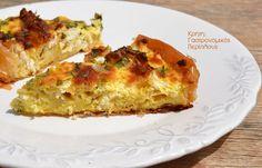 Αρωματική τυρόπιτα με φύλλο κρούσταςκαι υπέροχο σχήμα! - cretangastronomy.gr Main Menu, Greek Recipes, Crete, Quiche, Pie, Cooking, Breakfast, Food, Yum Yum