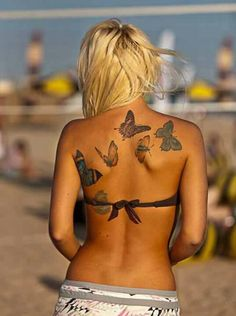 I love butterflys, such a sweet tattoo, but on my hip
