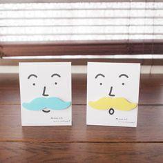Mustache-shape sticky note