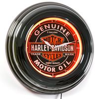 Harley-Davidson Genuine Oil Neon Clock #harley #decor  http://www.retroplanet.com/PROD/31738