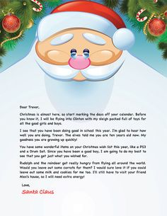 Letter From Santa Template Word Usable Ms Word Template From
