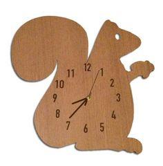 Squirrel Clock - Bunni