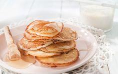 Τηγανίτες με γιαούρτι Greek Recipes, Sweet Tooth, Pancakes, Sweets, Breakfast, Inspiration, Food, Morning Coffee, Biblical Inspiration