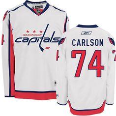 Washington Capitals 74 John Carlson Road Jersey - White