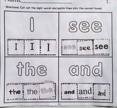 Sight Word Make-a-Match @Christine Reid we should totally make these!