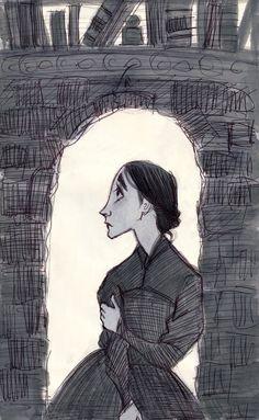 Jane Waits by aberry 89.  Lovely Jane Eyre fanart.
