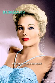 KIM NOVAK BEDAZZZLED Technicolor conversion by BEDAZZZLED from b/w print