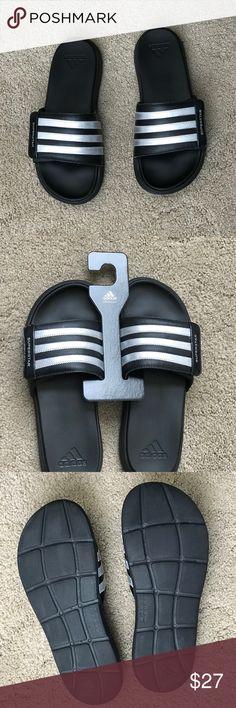 cb45e2ec0fae8b Adidas Superstar 4G Black Sliders Sandals.