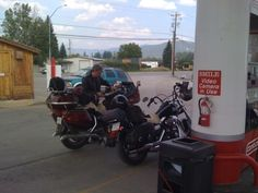 Enroute to Sturgis for the 70th Anniversary Rally. The grizzled veteran is my dad, Dave.