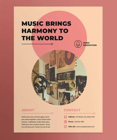 Music Production Poster Template AI, EPS, INDD, PSD and MS Word Professional Poster, Poster Templates, Music Production, World Music, Ms, Words, Horse