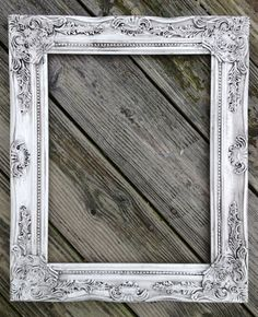 Any color Ornate Baroque picture frame open scatter ornate shabby chic antique vintage wedding French country nursery baby room