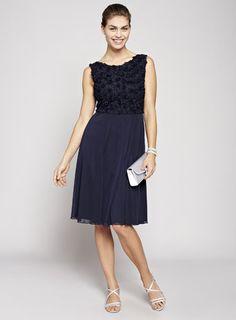 Navy Rosie Short Bridesmaid Dress