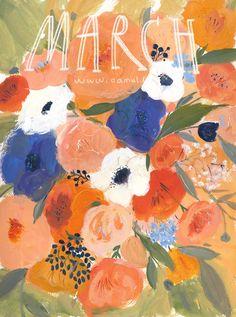 Best Chap - Florist Ploudoll Handmade images on Designspiration Art And Illustration, Floral Illustrations, Illustrations And Posters, Inspiration Art, Art Inspo, Guache, Arte Pop, Art Design, Aesthetic Art