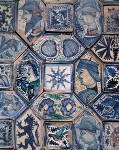 "ladylimoges:  "" Joyce Jordan • Blue & White : Napoli Tiles  """