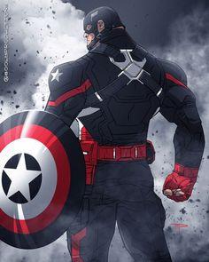 Captain America -Black Suit American Agent Marvel