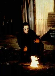 ~~Trying to get warm on the set of The Crow~~