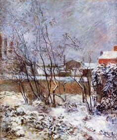 Snow, Rue Carcel Paul Gauguin, 1883