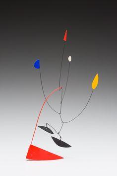 Mobile with Five Appendages - Alexander Calder, (1898 - 1976) 1938 painted sheet metal and wire 15 1/4 in. (38.7 cm) Overall (base): 2 x 4 x 4 in. (5.1 x 10.2 x 10.2 cm)