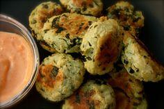 Mashed Potato Quinoa Puffs with Sriracha Mayo - Brazen Kitchen - January 2013