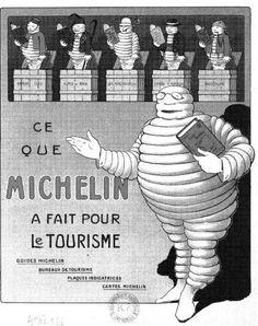 Portada antigua en blanco y negro de la guía michelin