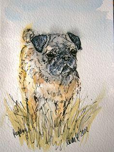 postcard pug   by adore62