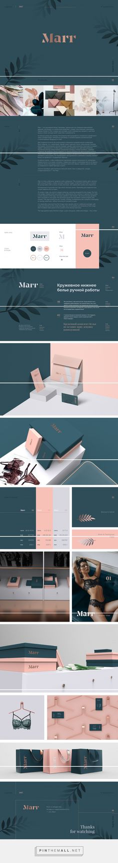 Marr Lingerie Branding and Packaging by Logo Machine | Fivestar Branding Agency – Design and Branding Agency & Curated Inspiration Gallery #branding #lingeriebranding #brand #packaging #packagingdesign #design #designinspiration