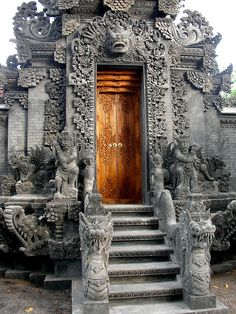 Doorway of Hindu Temple, Bali, Indonesia.   ***** Referenced by 1 Dollar Website Hosting  (WHW1.com):  Affordable, Reliable, Fast, Easy, Advanced, and Complete, and FREE Sites (ask).©