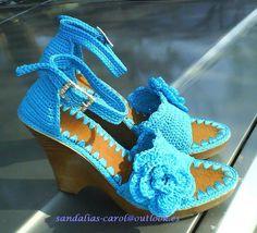 Zapatos tejidos a crochet