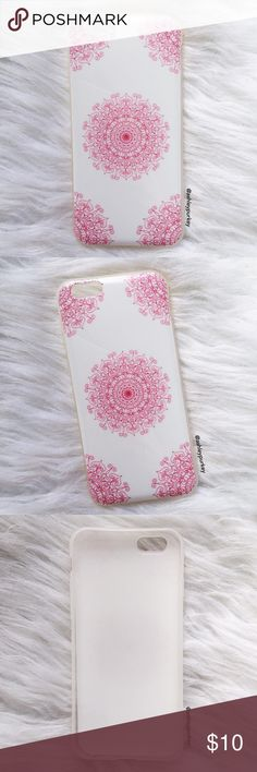 "white and pink mandala iPhone 6/6s phone case ❗ this is a good condition USED iPhone 6/6s case. this is not from my boutique line.   •iPhone 6/6s (4.7"")  •flexible silicone  •usual signs of use, no major damage   •no trades    *please make sure you purchase the correct size case. i am not responsible if you purchase the wrong size  item #: 59 Accessories Phone Cases"