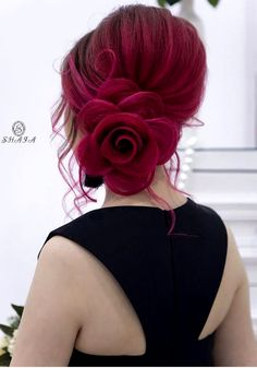 10 unique hairstyles for long hair - Trends Of The World Stacked Bob Hairstyles, Unique Hairstyles, Braided Hairstyles, Rose Hairstyle, Female Hairstyles, Hairstyles 2018, Wedding Hairstyles For Long Hair, Little Girl Hairstyles, Quinceanera Hairstyles
