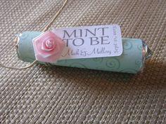 Bridal shower wedding favor  Mint to be by BabyEssentialsByMel, $36.00