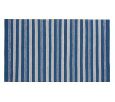 Noah Synthetic Indoor/Outdoor Rug - Blue Multi | Pottery Barn