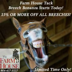 15%  or more off on all breeches! Limited Time Only! Shop Now! http://bit.ly/1b5j9SR