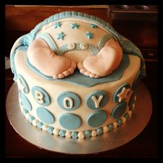 Baby bum cake made for a baby shower.. Gorgeous little feet!