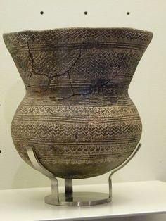 Bell beaker vessel. Beaker culture ranged across Iberia and into Europe, from 2800-1800 BCE.