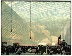 Emile Antoine Verpilleux, St. Pancras Station, Published by Messrs. P. & D. Colnaghi & Co.