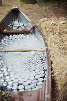 canoe bar! | Happy Everything Co #wedding