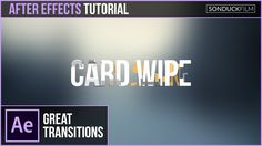 After Effects Tutorial: Text-to-Text CARD WIPE TRANSITION