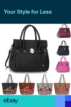 Womens Faux Leather Shoulder Bag Ladies Handbags Extra Large Designer On  Sale cac546b29a