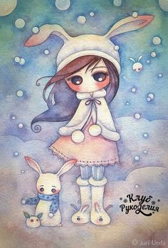 #акварель #рисунок #девочка