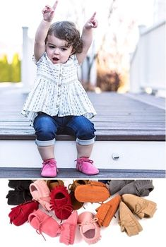 New Baby Gifts! {Free Products to Give to Newborns and Toddlers} Get 2 pairs of moccasins and just pay s/h! These make the CUTEST shower gifts for new babies or birthday gifts for toddlers! Summer Fashion Outfits, Kids Fashion, Fall Fashion, Free Products, New Baby Products, Toddler Boy Gifts, Baby Moccasins, Baby Leggings, Cute Baby Girl