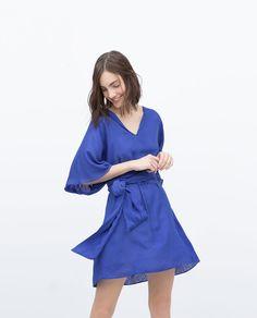 Image 3 of JACQUARD VISCOSE DRESS from Zara