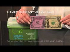 Product demonstration for Amway-exclusive Legacy of Clean All Fabric Bleach.