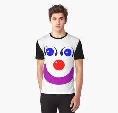 Distorted circles and squares make a kinda cute, kinda creepy clown face. • Also buy this artwork on apparel, stickers, phone cases, and more.