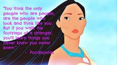 Don't ever judge some until you get to no them #Disney quote